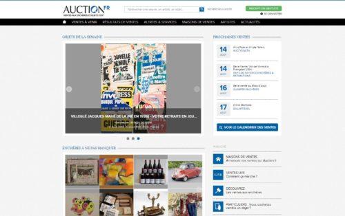 Capture d'écran du site Auction France le 13/08/2014