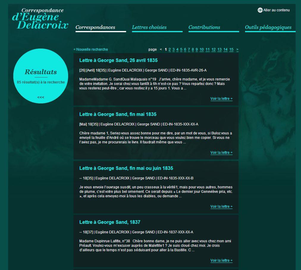 correspondance delacroix site internet