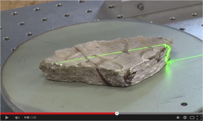 Numérisation 3d des fragments de l'inscription d'Autun
