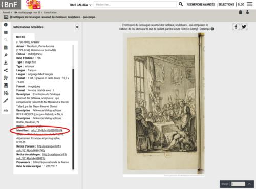 """Trouver l'identifiant ARK d'un document (aussi disponible dans """"partager"""")"""